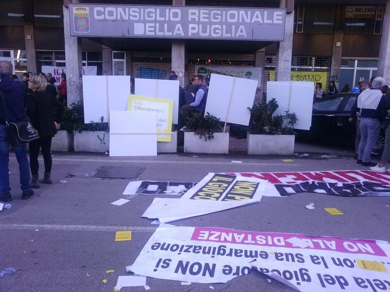 Gioco legale. Sit – in a Taranto