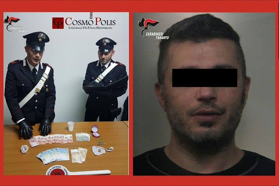 Ginosa: arrestato 40 enne sorpreso a spacciare droga