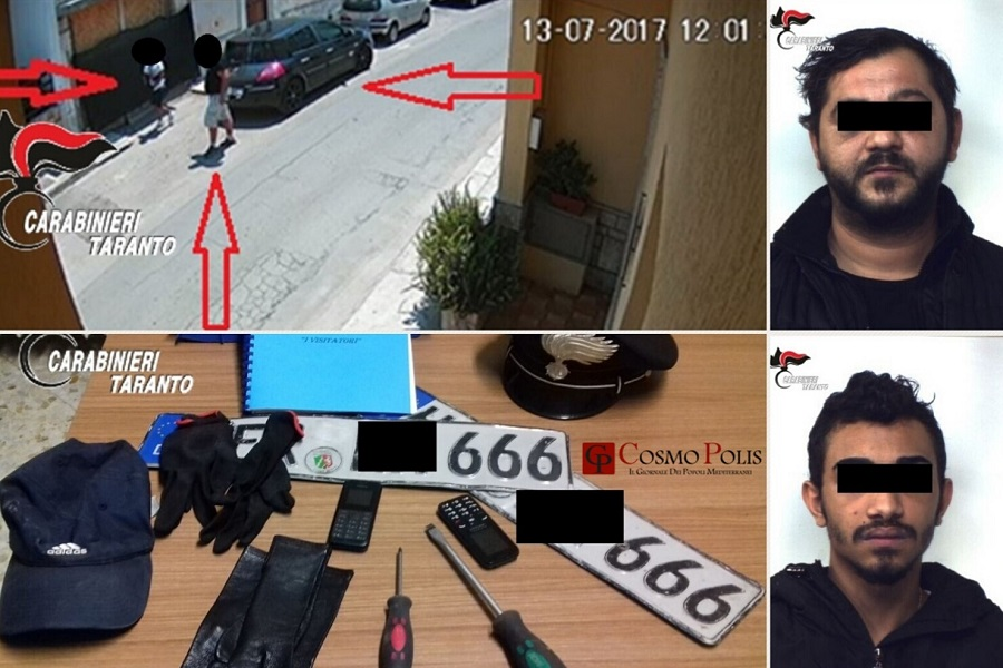Rapine e furti: due arresti