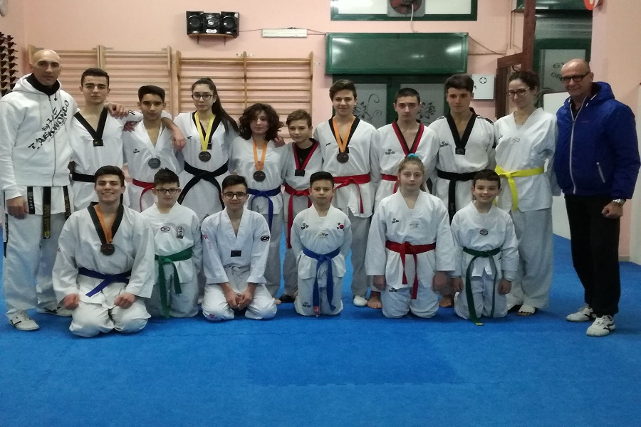 Il Taekwondo pugliese si tinge di giallo-verde