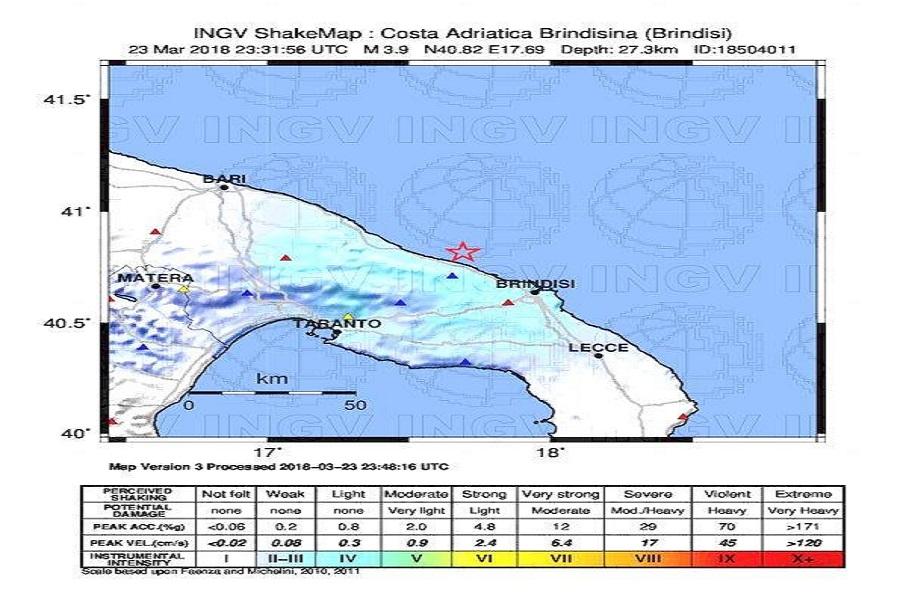Terremoto. Paura a Taranto