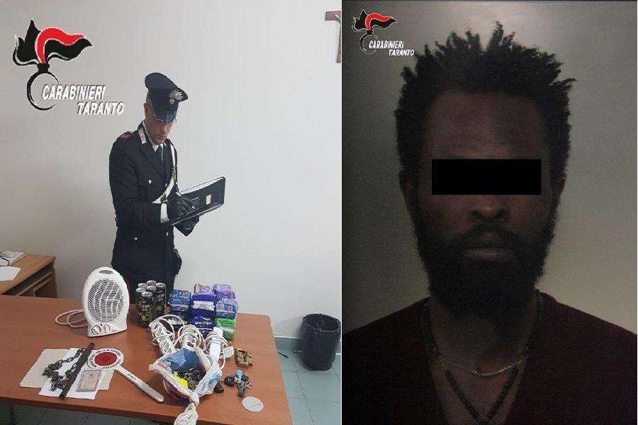 Minaccia e picchia proprietario hotel: in manette un nigeriano