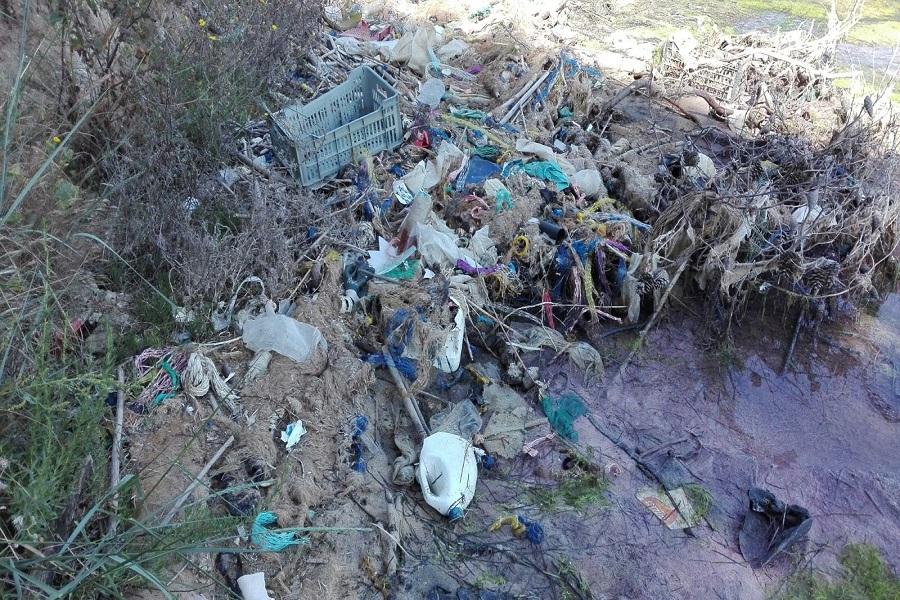Rimossi rifiuti da una spiaggetta di Parco Cimino