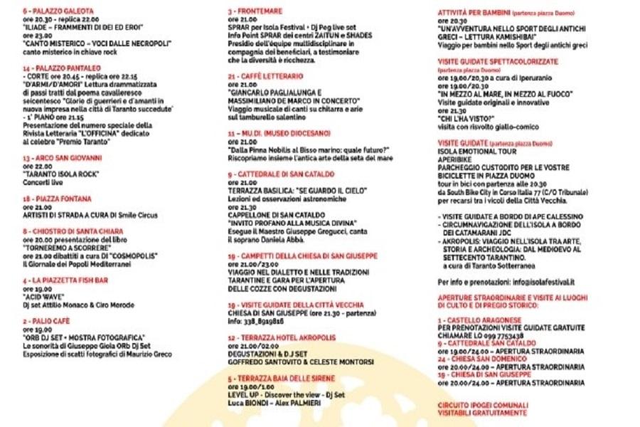 Isola Festival: il programma dell'ultima serata