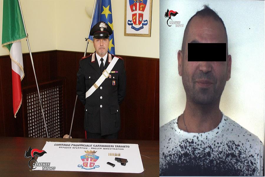 Città Vecchia, armi e munizioni nascosti in un armadietto: arrestato un pregiudicato 41 enne