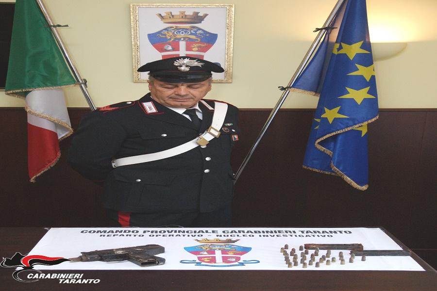 Martina Franca: Trovata una pistola mitragliatrice e munizioni