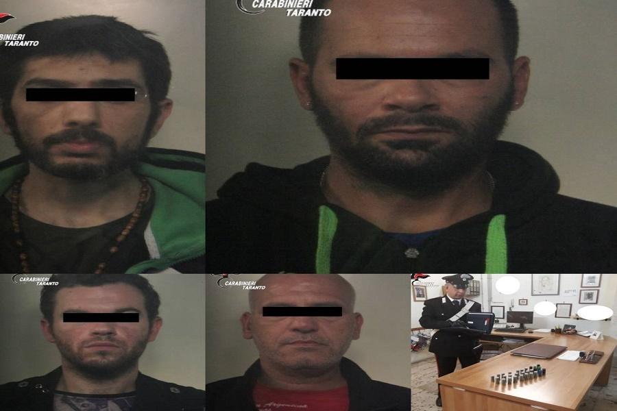 Blitz antidroga: vasto giro di spaccio tra Taranto e Palagianello