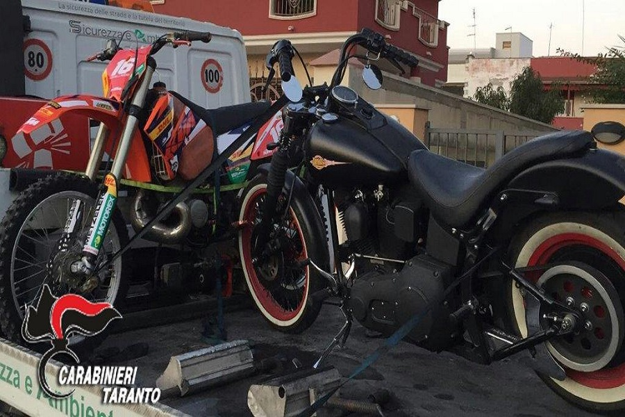 Moto rubate nel garage: incensurato in manette
