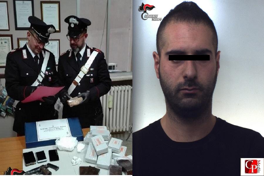Nascondeva in casa droga per oltre 150 mila euro: in manette un 30 enne di San Marzano