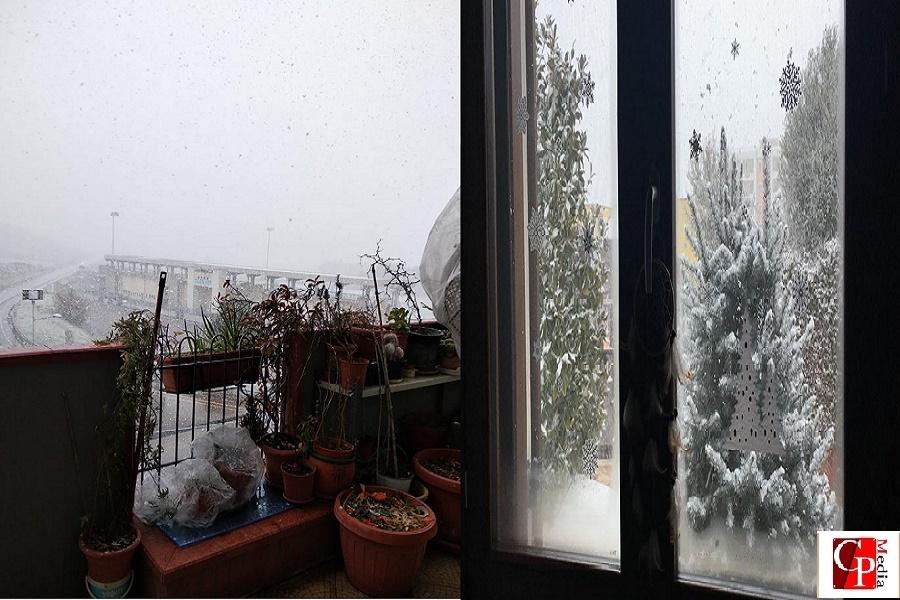 Emergenza freddo: nevica nella provincia