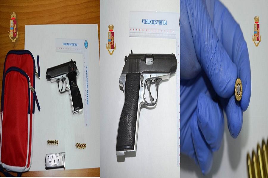 Scoperta arma clandestina e munizioni in un'abitazione