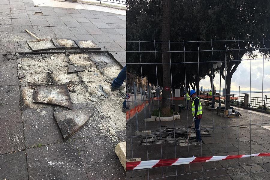 Lungomare di Taranto, aperto un nuovo cantiere