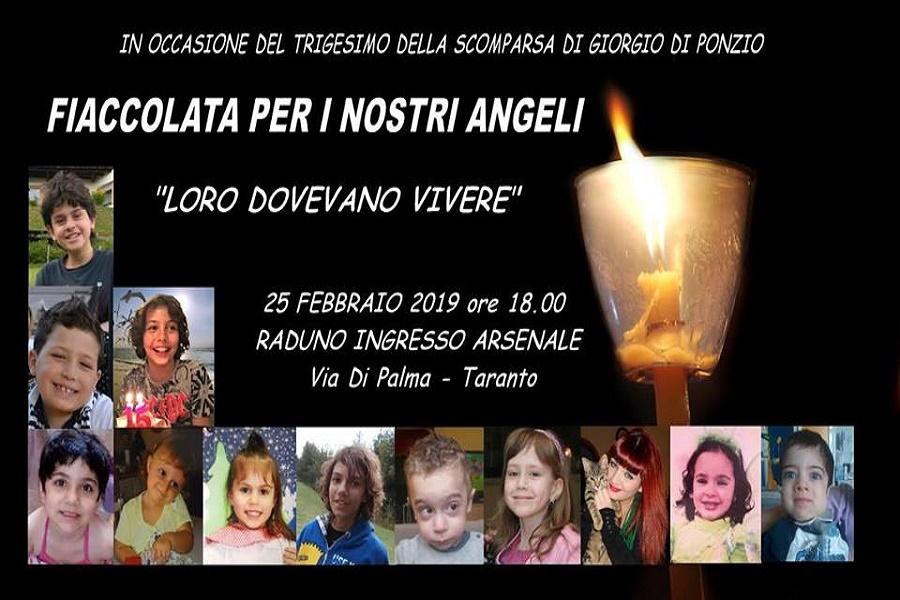 Fiaccolata per gli angeli di Taranto