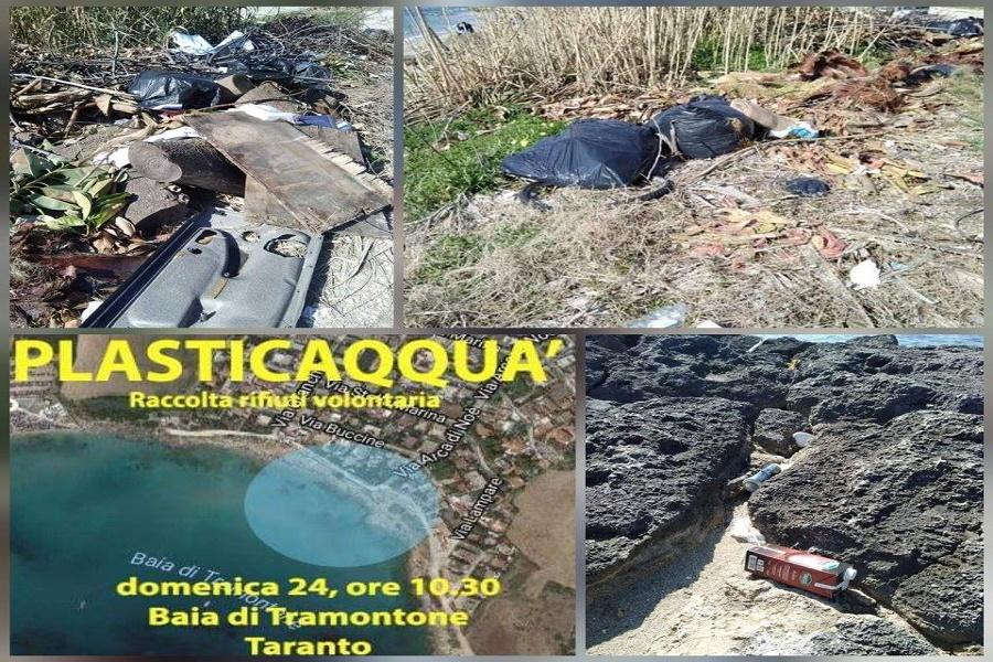 Plastiqquà invita a ripulire la spiaggia di Tramontone