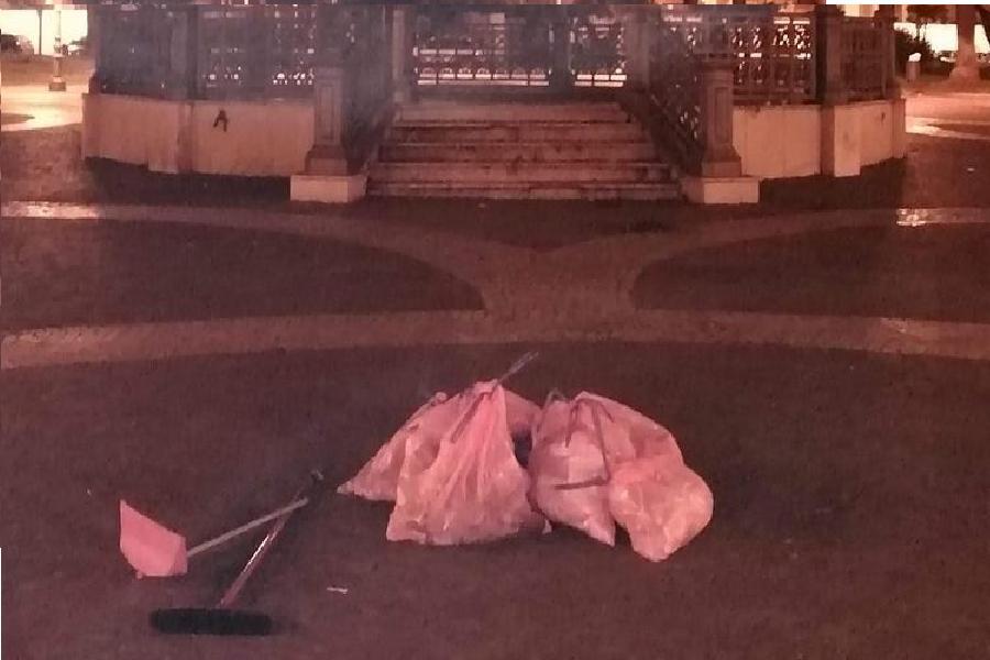 Piazza Garibaldi non è una discarica