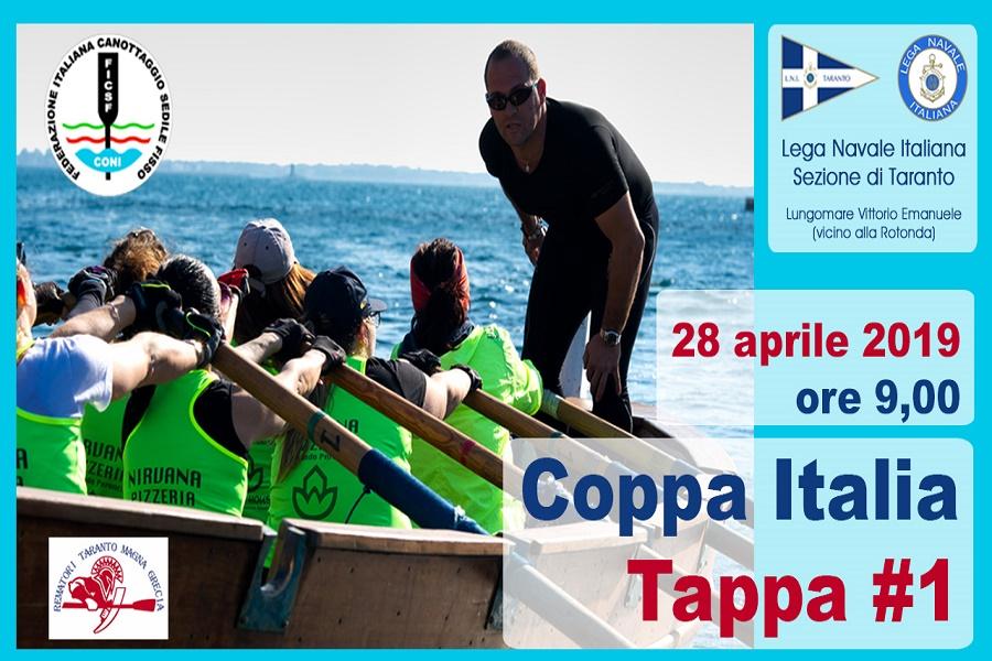 Voga, a Taranto prima tappa di Coppa Italia