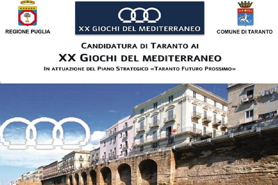 Taranto candidata ai XX Giochi del Mediterraneo