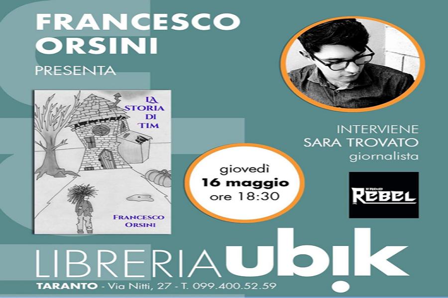 """La storia di Tim: romanzo """"dark"""" di Francesco Orsini"""