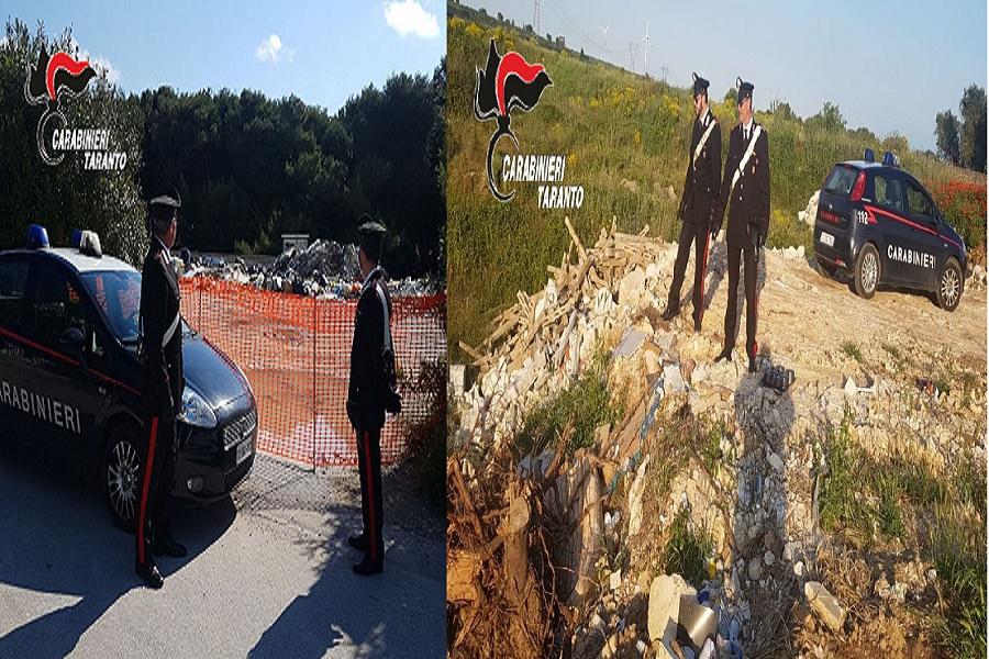 Reati ambientali: i Carabinieri sequestrano discariche abusive