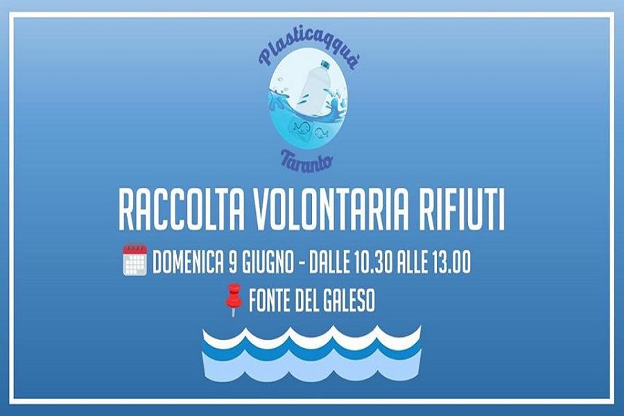 Plasticaqquà Taranto: raccolta rifiuti fiume Galeso