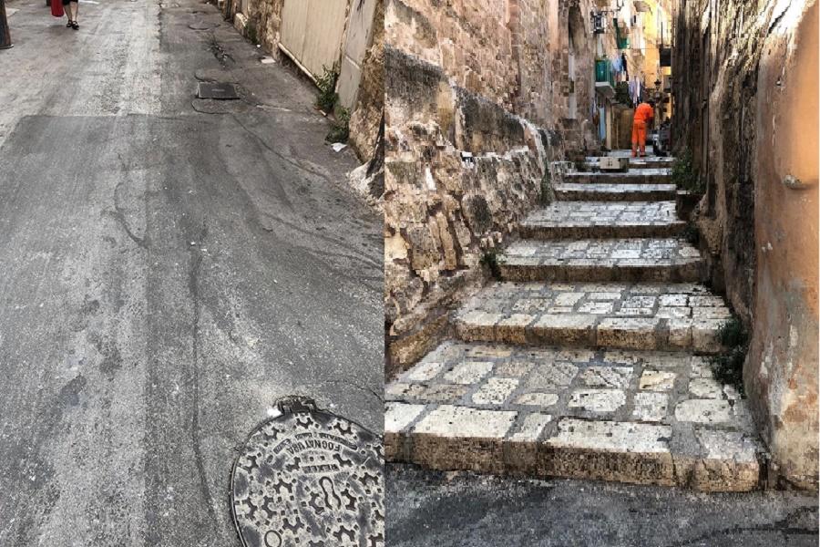 Città vecchia, liquami dalla rete fognaria: al via risanamento
