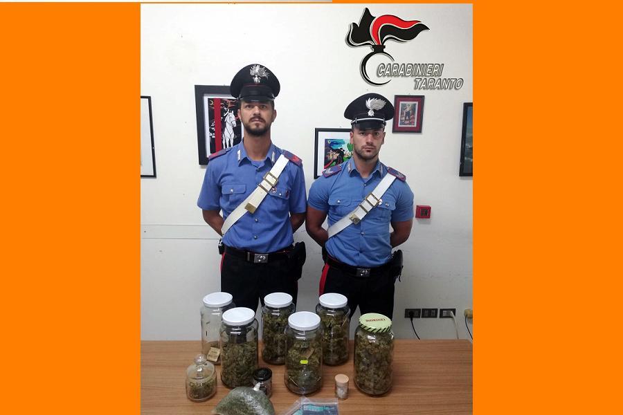 In casa 600 grammi di marijuana