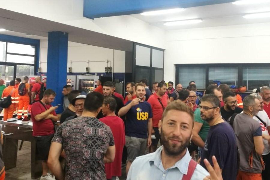Castiglia. Lavoratori in sciopero