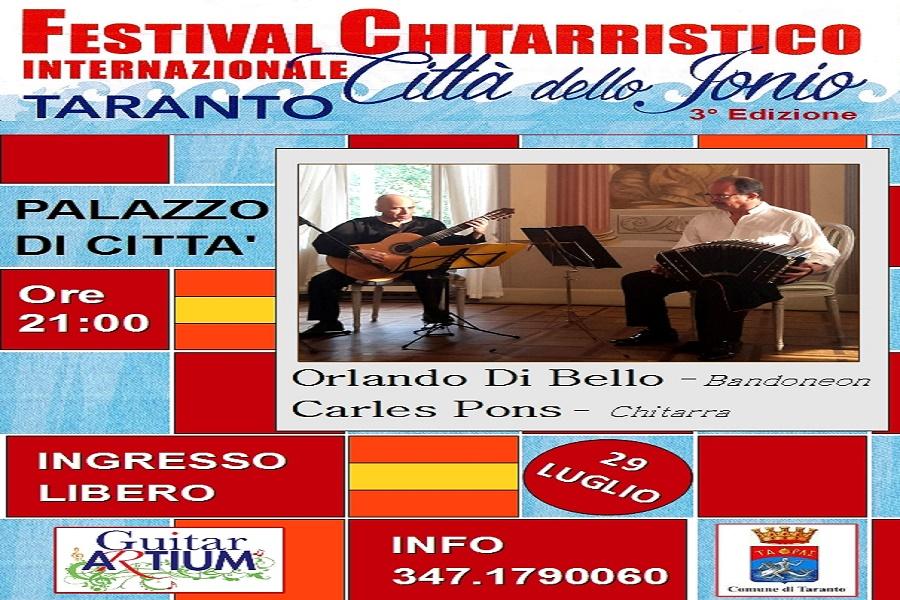 """Festival Chitarristico Internazionale """"Città dello Jonio"""": di scena il duo """"EL TANGO"""""""