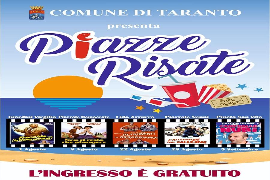 """Taranto, """"Piazze Risate"""": il cinema all'aperto"""