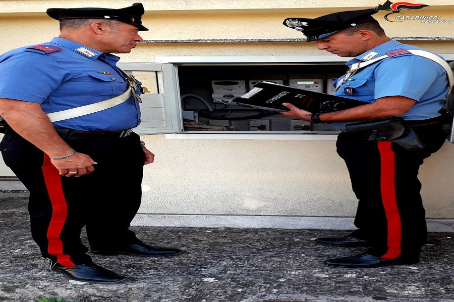 Sava, furto di energia elettrica: i carabinieri eseguono un controllo in una villa