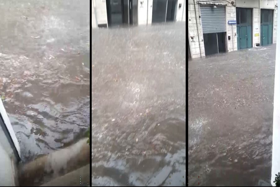 Pioggia e grandine a Martina Franca