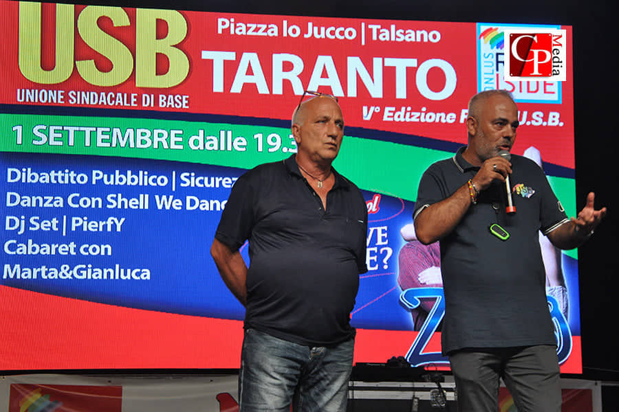 """Festa Usb Taranto: """"Ragionare con chi non la pensa come noi"""""""