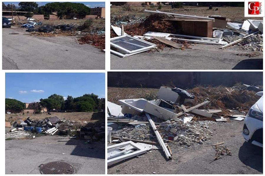 Cimitero San Brunone: rifiuti oltre le mura