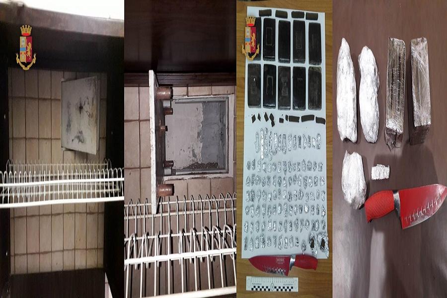 Nasconde oltre un kg di hashish in casa: arrestato 51 enne