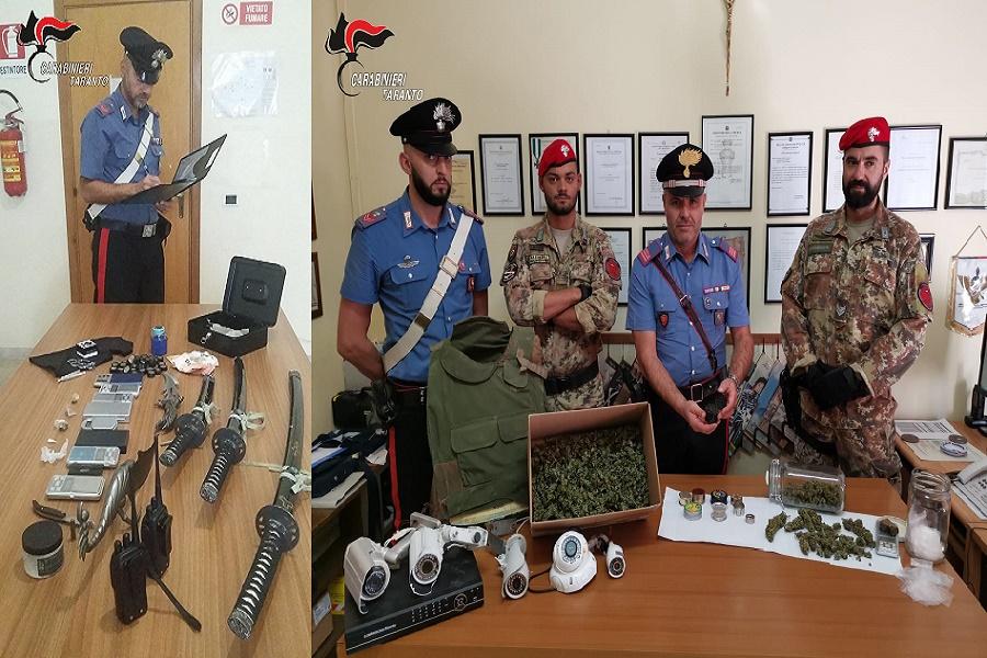 """Taranto, Manduria e Statte, """"Alto impatto"""": controlli dei Carabinieri"""