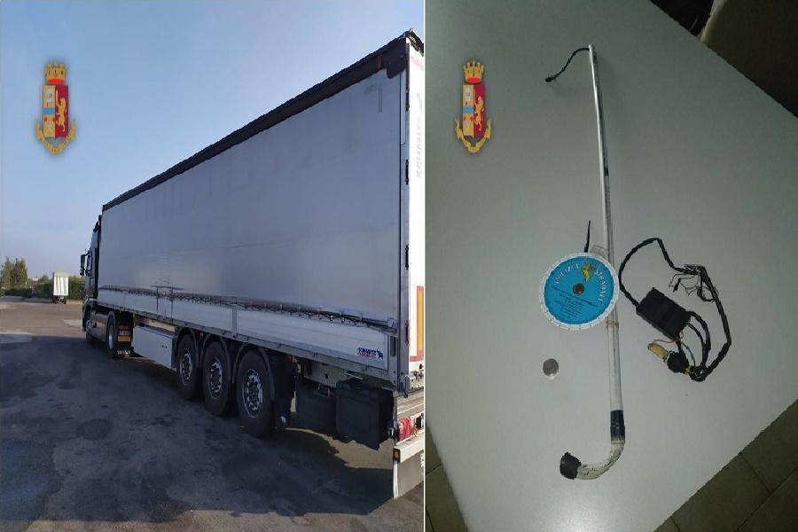 Altera i dati di viaggio grazie ad una calamita: denunciato camionista
