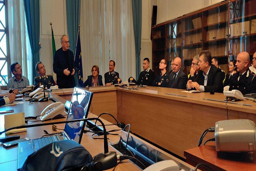 Taranto, gestione emergenze Protezione Civile: incontro in Prefettura