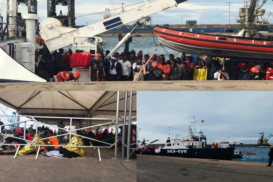 Sbarco migranti: Alan Kurdi giunge nel porto di Taranto