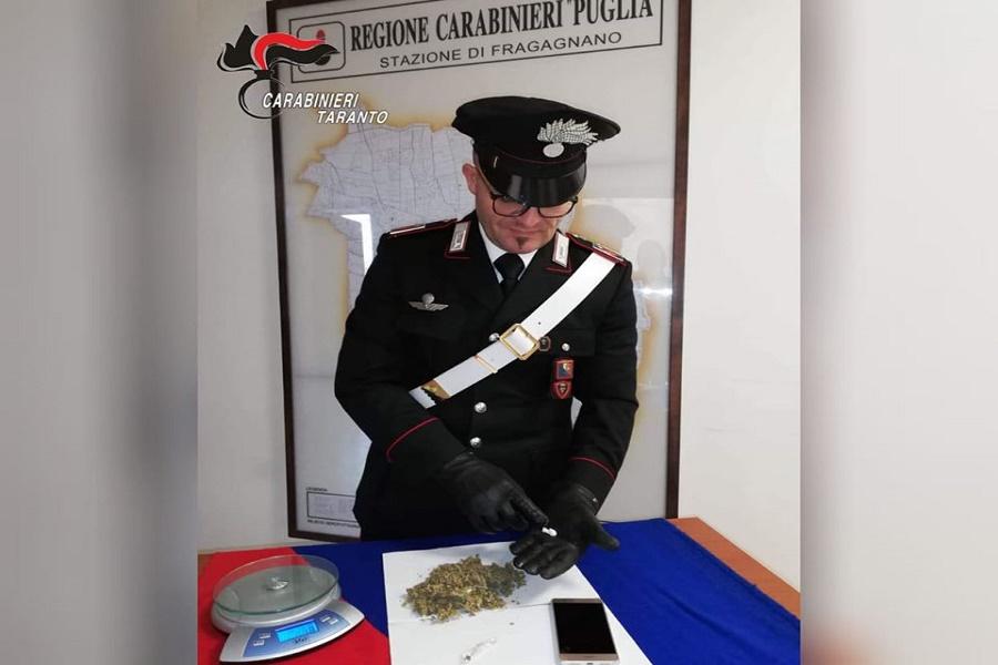 Fragagnano, spaccio di droga: arrestato 29 enne