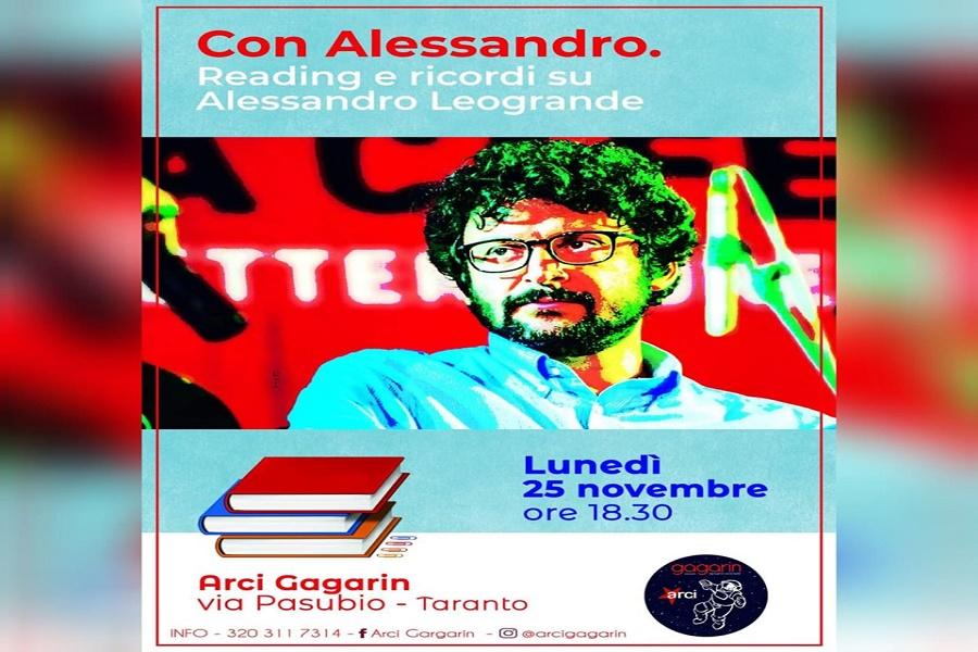 Al circolo ARCI Gagarin letture e ricordi su Alessandro Leogrande