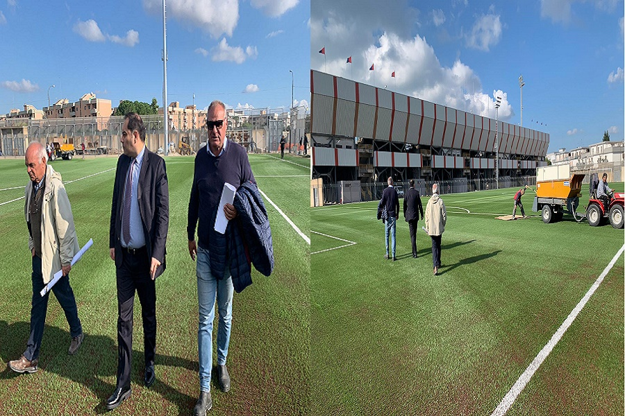 Il Taranto torna ad allenarsi allo stadio Jacovone