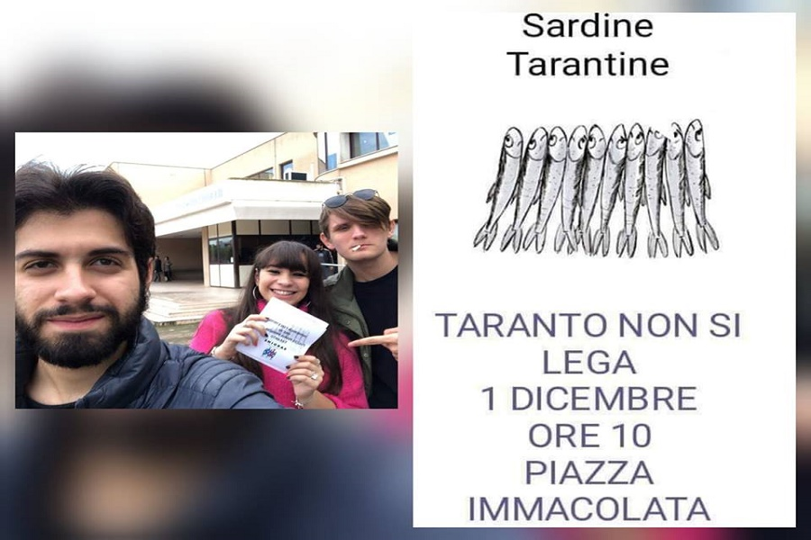 Arriva a Taranto il popolo delle Sardine