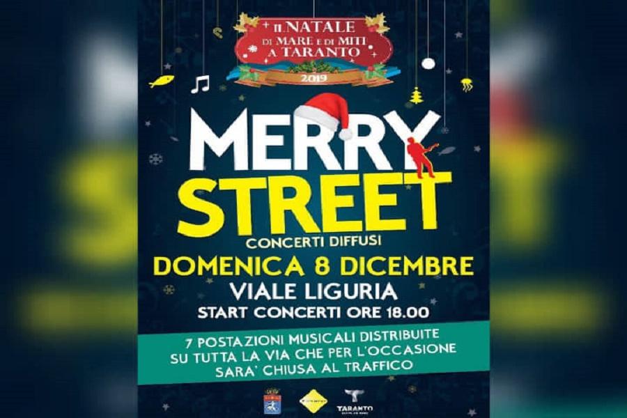 "Taranto, ""Merry Street"": concerti per la città"
