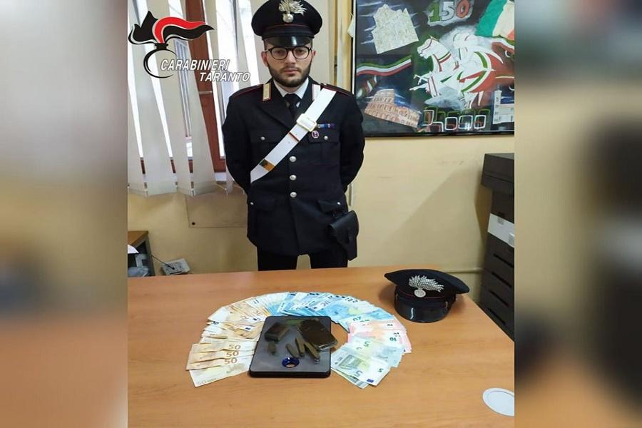 Scoperto con diversi grammi di hashish: arrestato ristoratore di Grottaglie