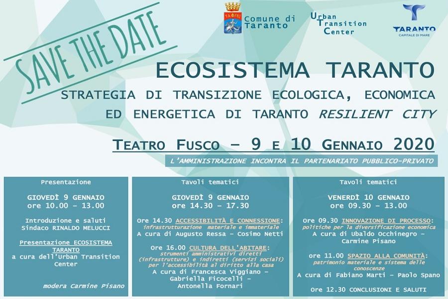 Ecosistema Taranto: domani parte convegno