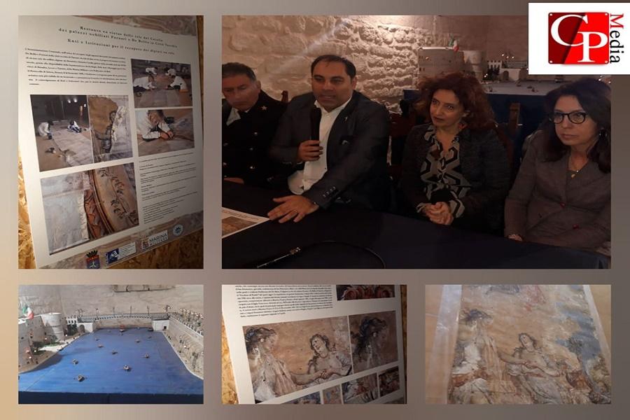 Castello Aragonese: restaurate tele settecentesche del Carella