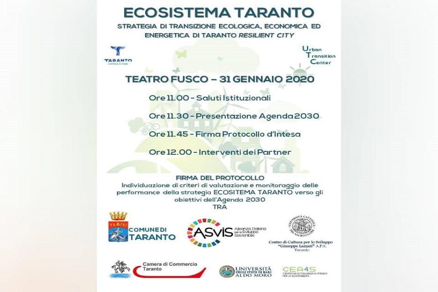 Ecosistema Taranto, nuovo progetto per il benessere dei cittadini