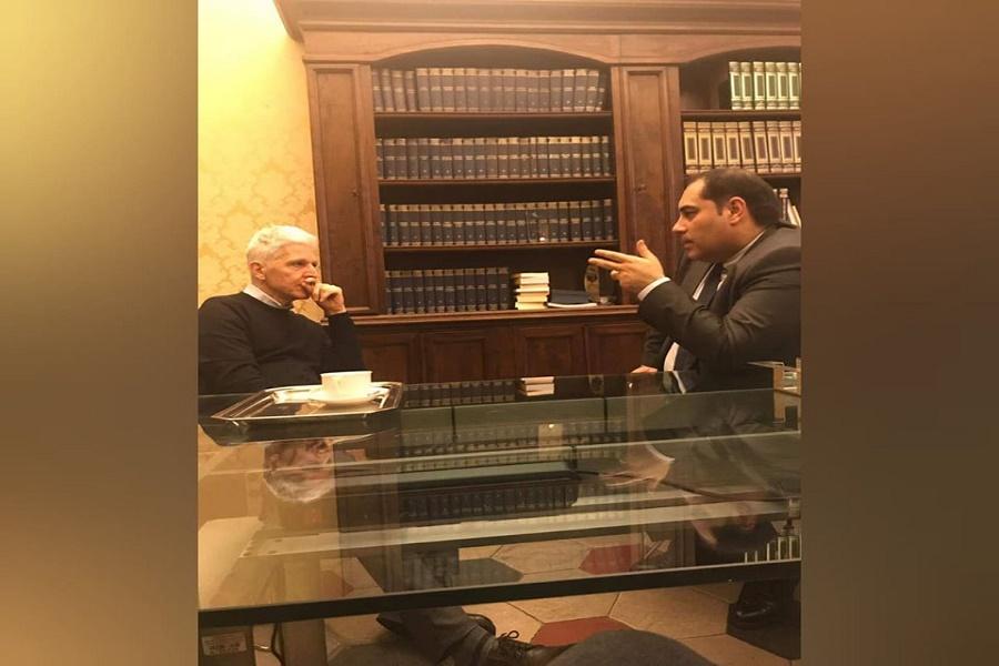 Melucci visita l'Istituto Treccani Massimo Bray