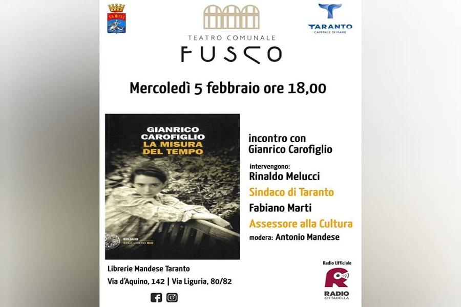 """Carofiglio presenta al Teatro Fusco: """"La misura del tempo"""""""