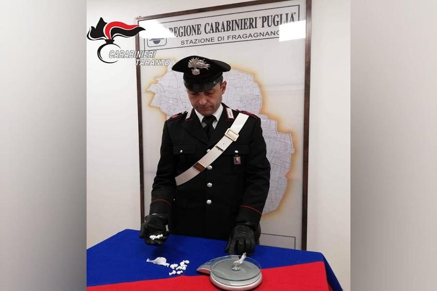 Detenzione e spaccio: arrestato 30 enne di Fragagnano